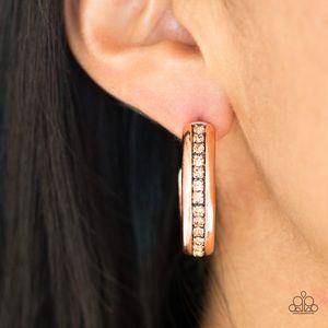 5th Avenue Fashionista Copper Earrings